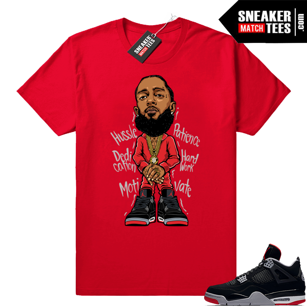 Bred 4s sneaker match tees