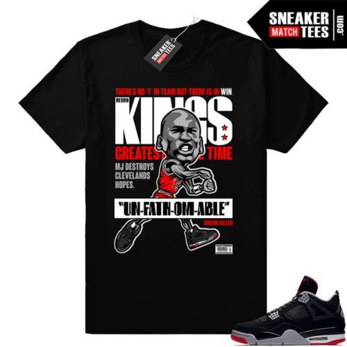 Bred 4s sneaker matching clothing