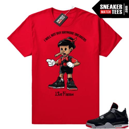Bred Jordan 4 Sneakerhead Pinocchio tee