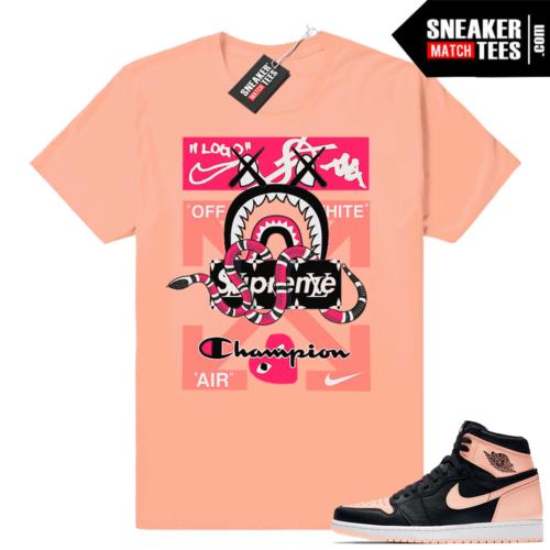 Jordan 1 Crimson Tint Sneaker Match tees