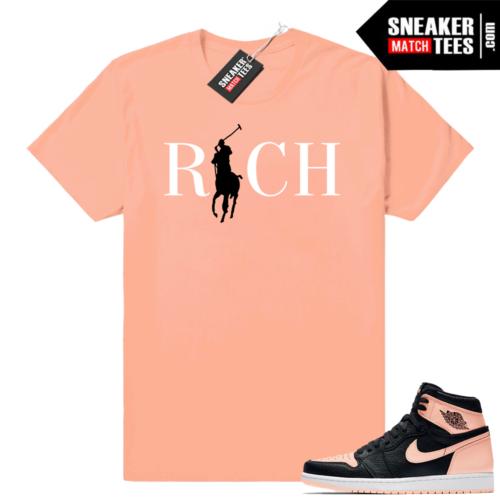 Jordan 1 Crimson Tint sneaker match shirt