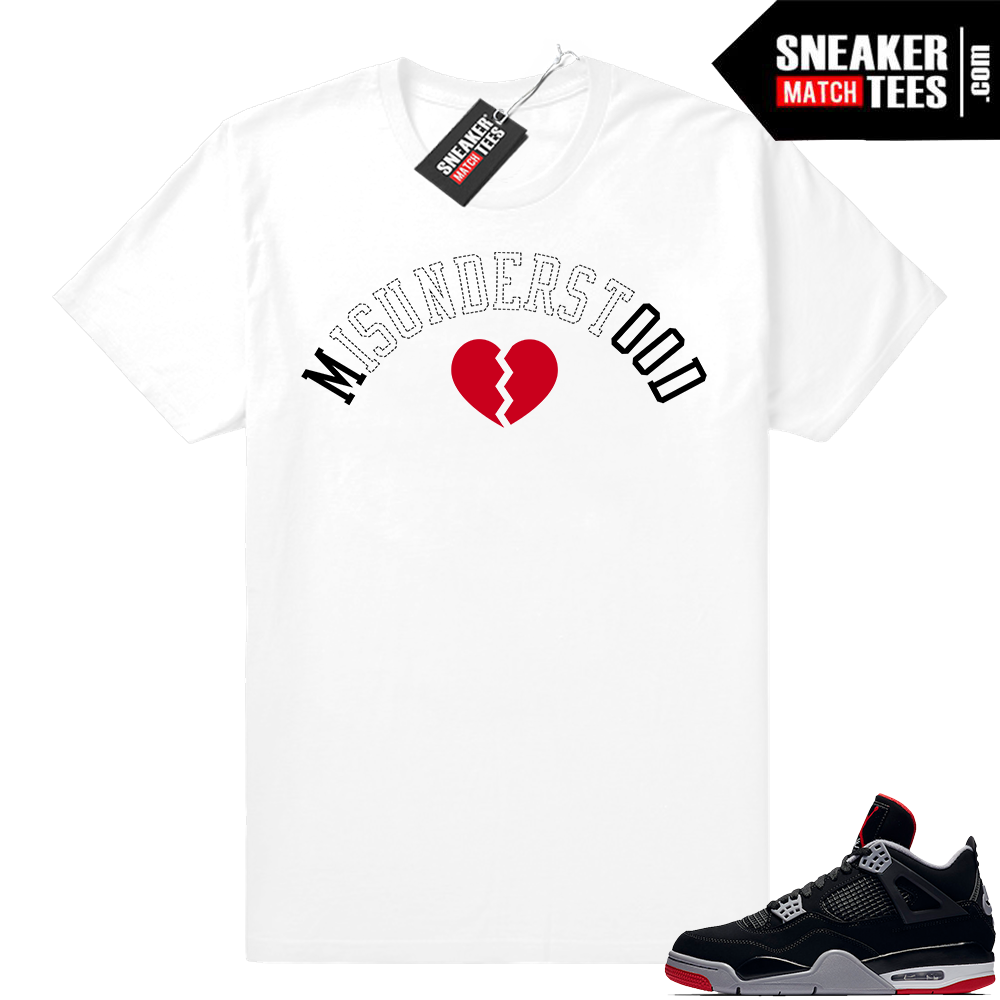 Jordan 4 Black Red Match Shirts
