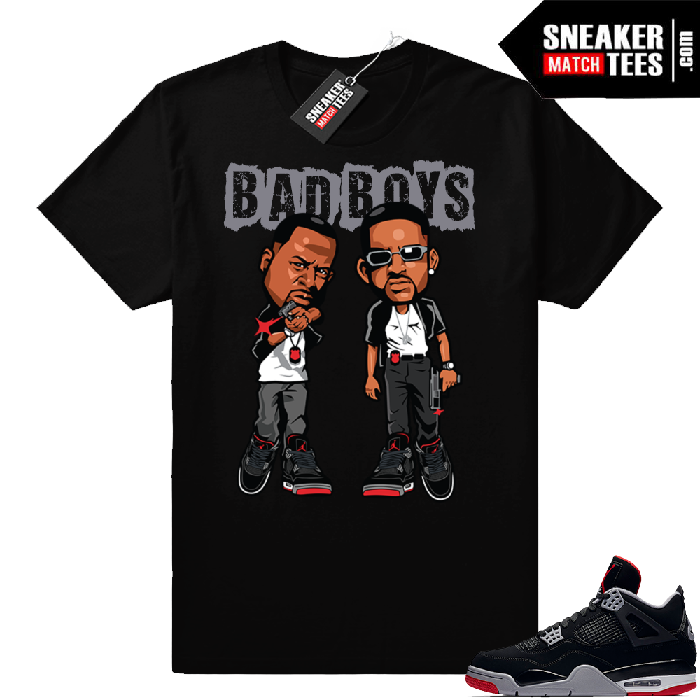 Jordan 4 Bred Bad Boys Tee