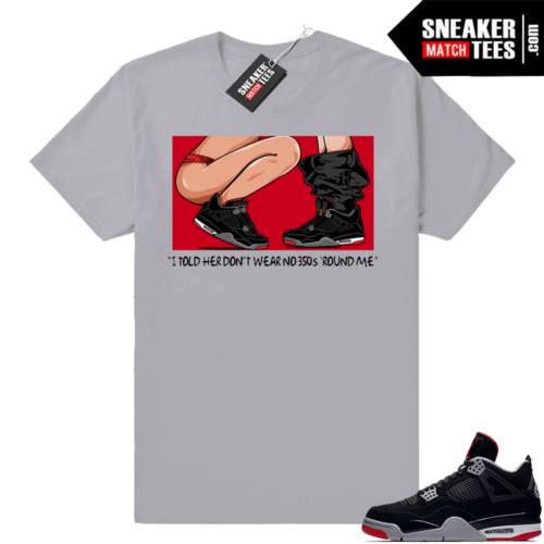 Jordan 4 Bred No 350s t-shirt