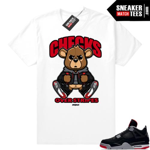 Jordan 4 Bred Sneaker Match tees shirts