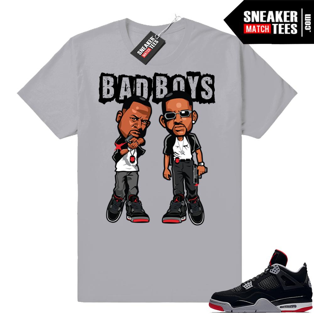 Jordan 4 Bred T-shirts | Jordan Match