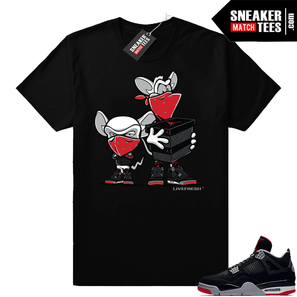 Jordan 4 Bred shirts match