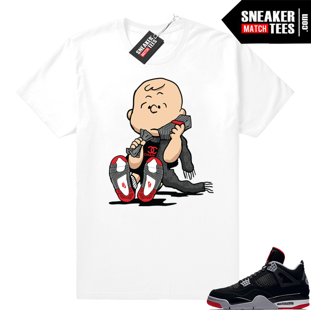 Jordan 4 Bred sneaker match shirts