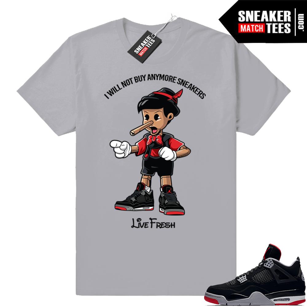 Jordan 4 Bred sneaker match tees