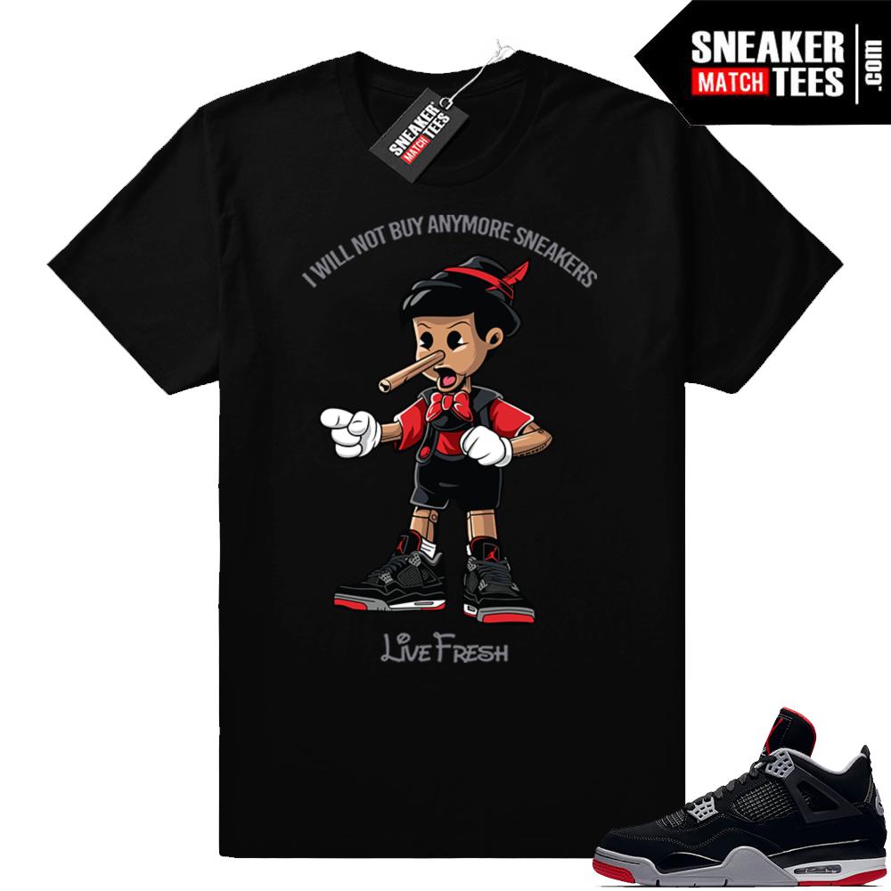 Jordan 4 Bred sneaker tees
