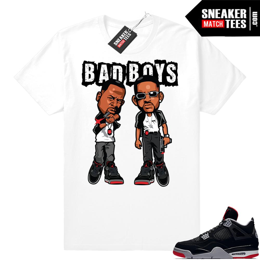 Jordan 4 Bred tee shirts
