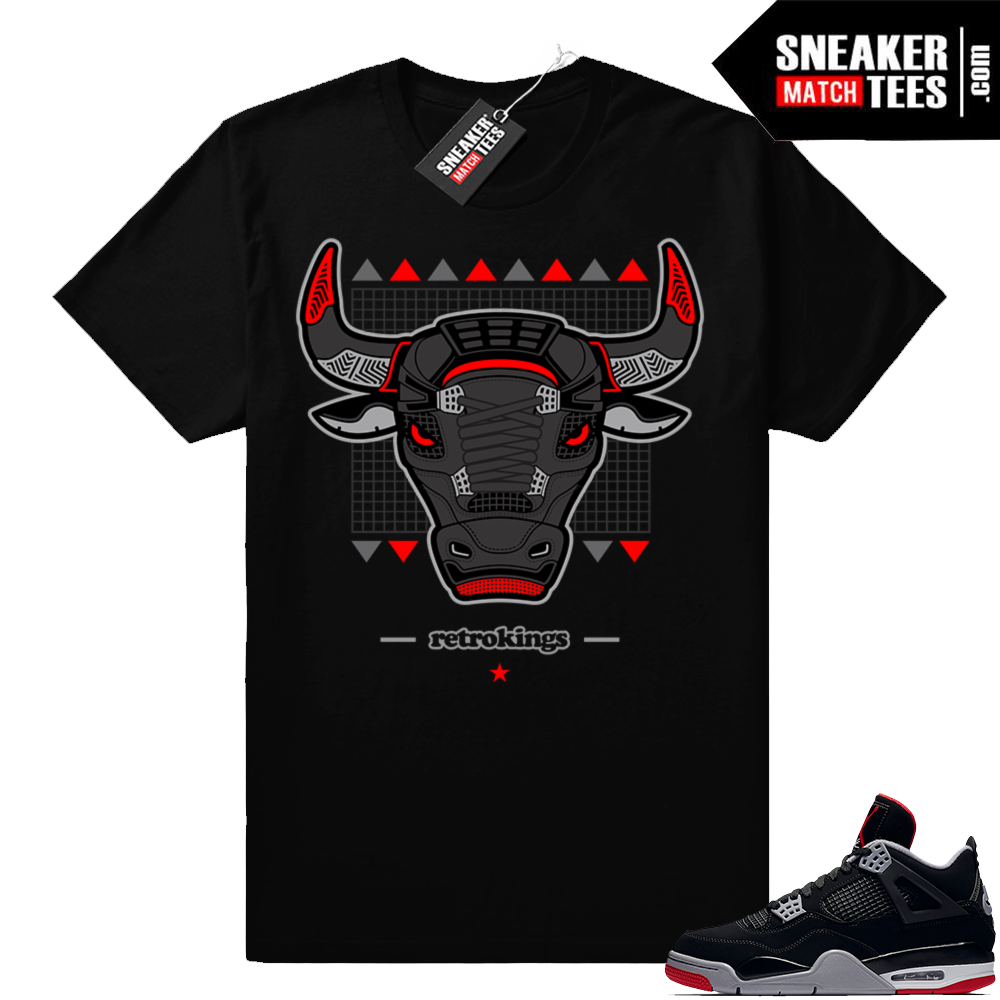 Jordan 4 bred sneaker match t-shirt