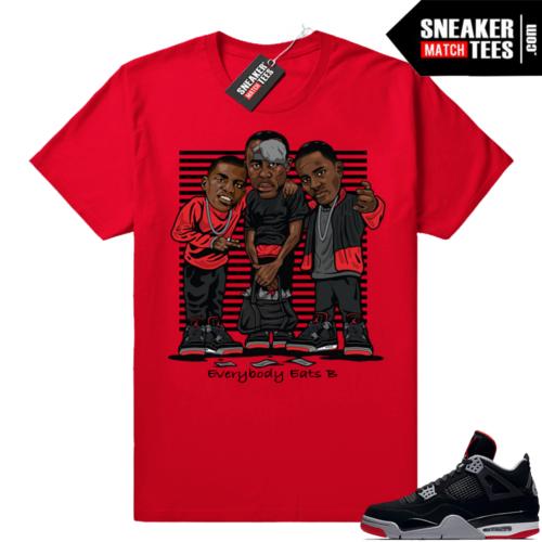 Jordan 4 sneaker t shirt match