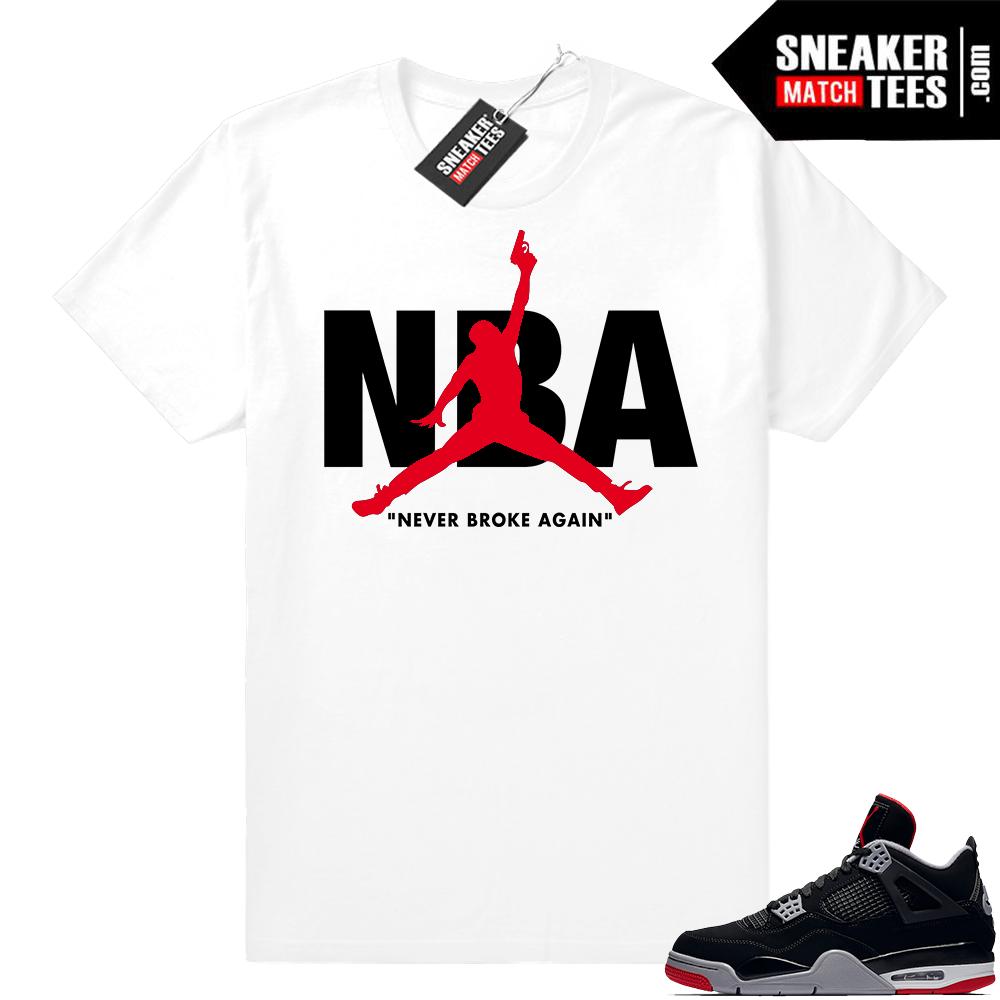 Jordan 4 sneaker tees bred 4s