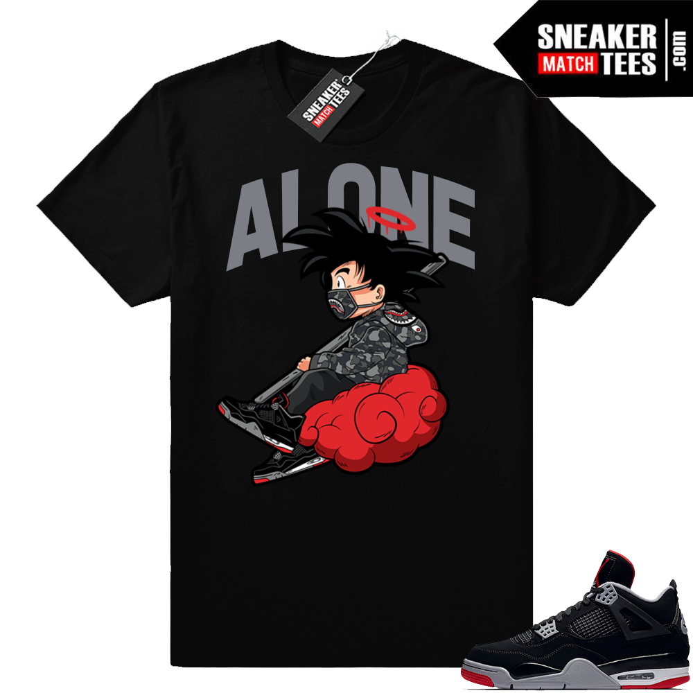 Jordan Bred 4s match shirt