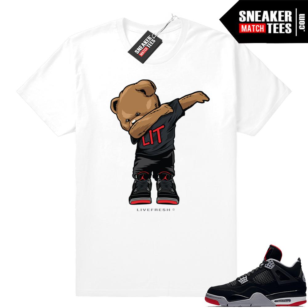 Jordan retro 4 bred shirts