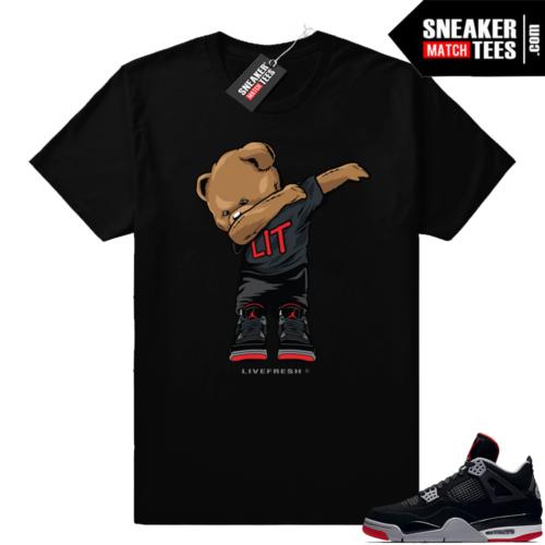 Jordan retro 4 bred sneaker tees
