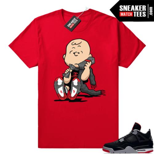 Jordan retro 4 sneaker shirt bred