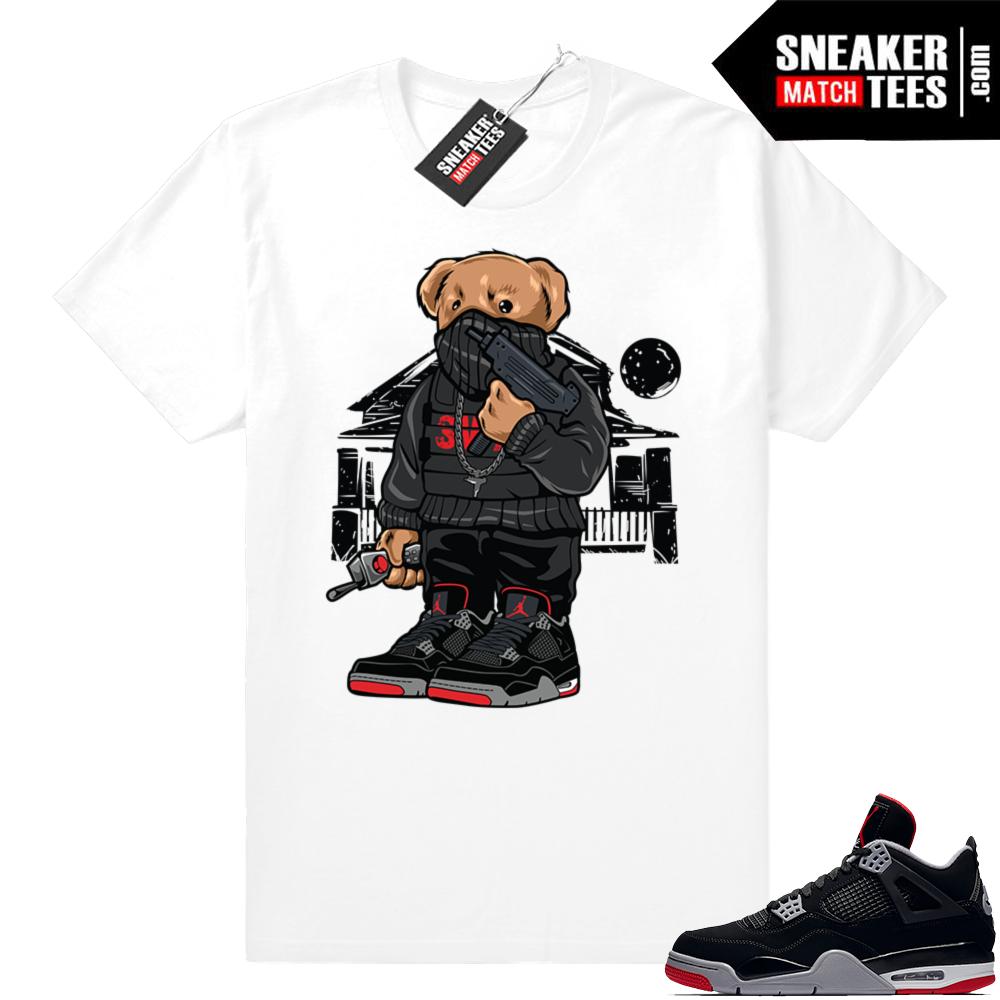 Jordan retro 4 sneaker tees bred