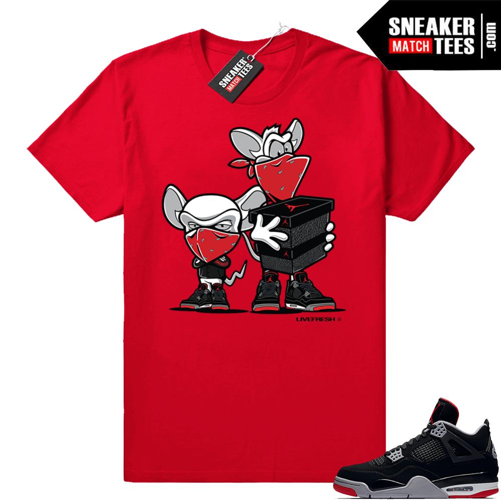 Jordan retro 4 sneaker tees shirts