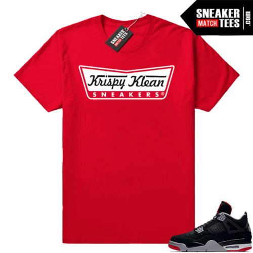 Jordan shirts match Bred 4s