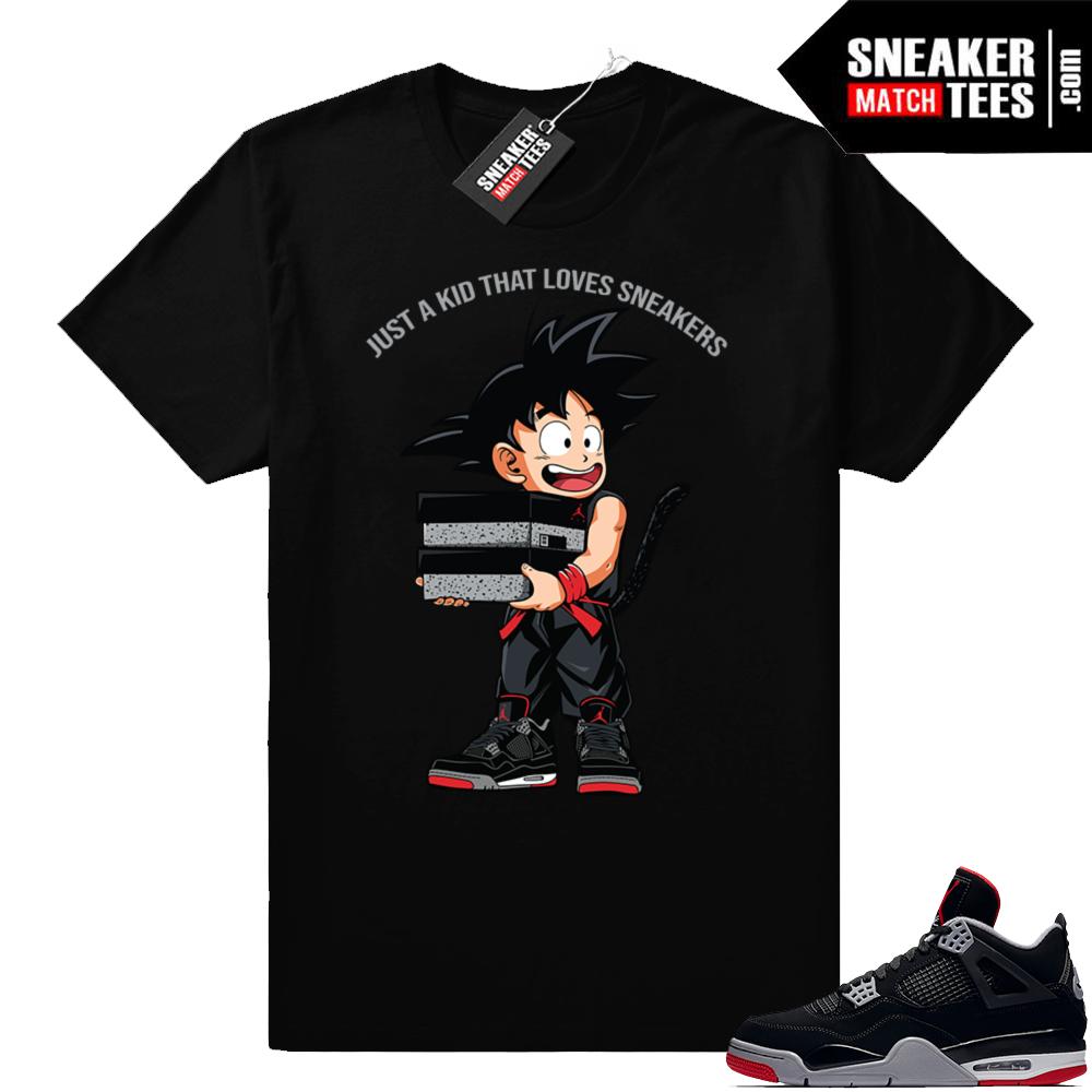 Jordan sneaker tees Bred 4s