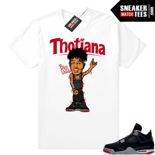 Match Jordan shirt Bred 4