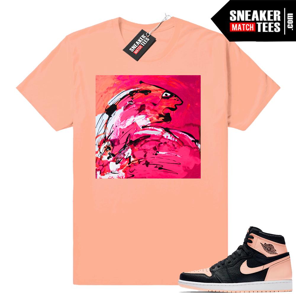 Match Pink Jordan 1 sneaker tees