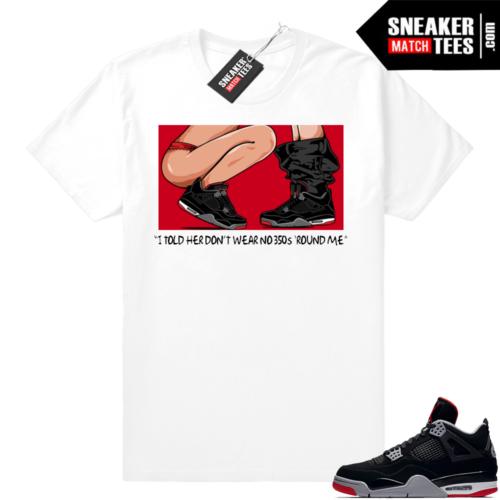 Match Sneakers Jordan 4 Bred