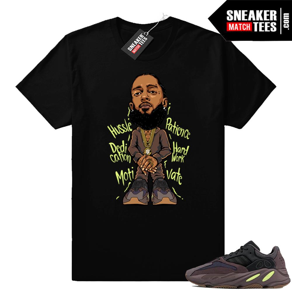 Mauve 700 sneaker shirt Nipsey Hussle