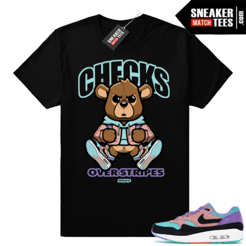 Nike Air Max 1 Checks over stripes Bear tee