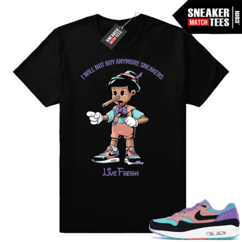 Nike Air Max 1 sneaker match tees