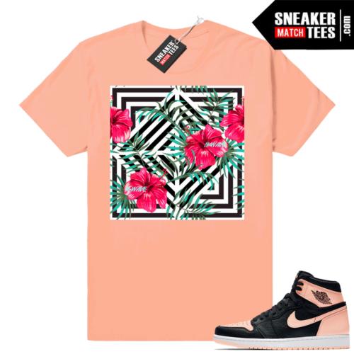 Pink Jordan 1 Crimson Tint sneaker tees