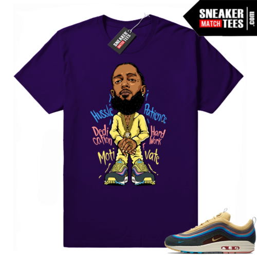 Sean Wotherspoon Air Max 1 Nipsey Hussle Purple tee