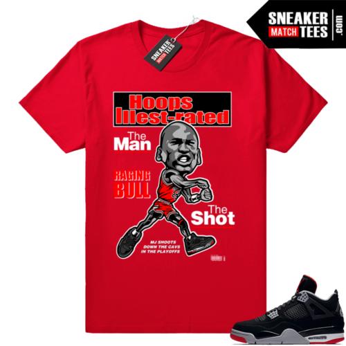 Shirt Bred 4s match