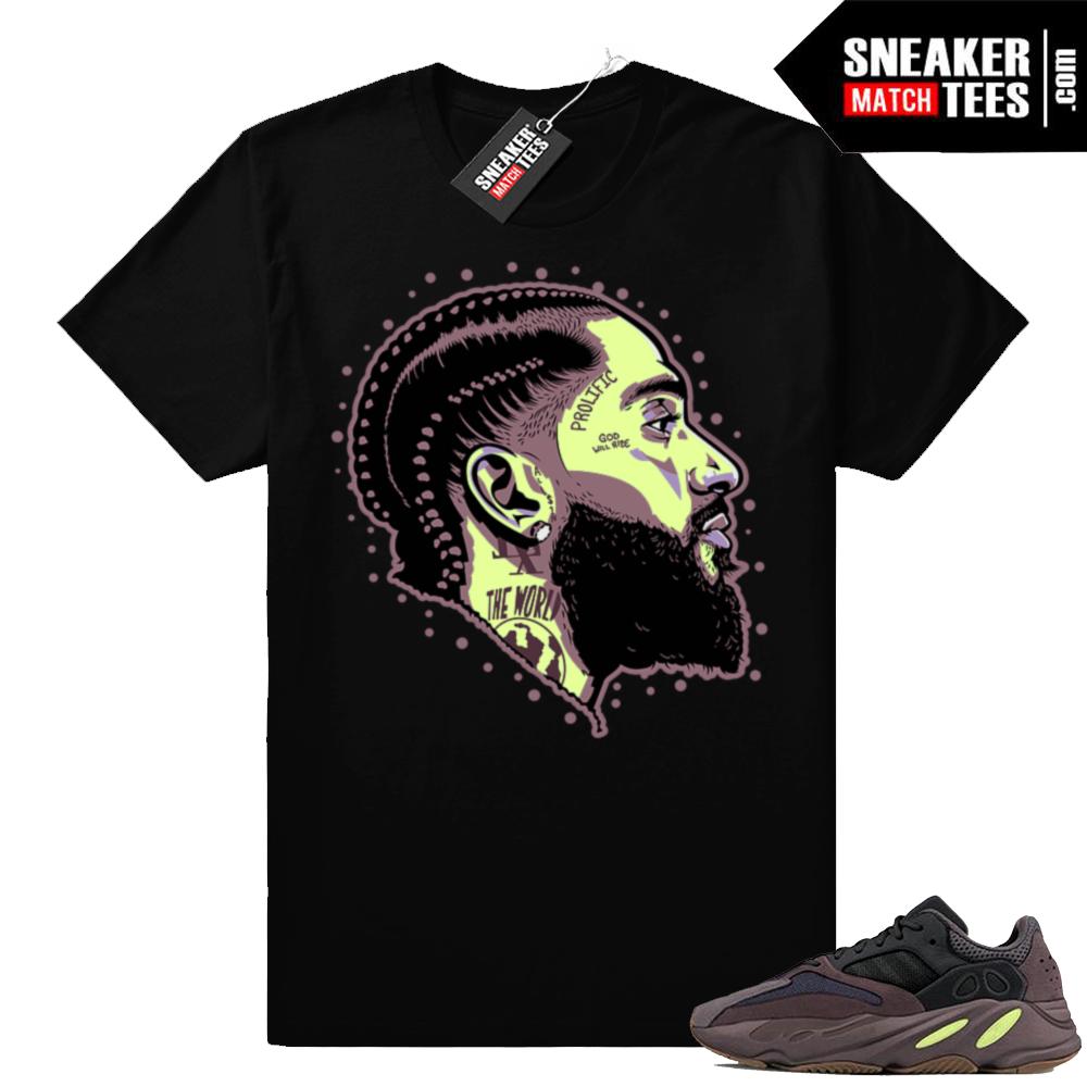 Shirt match Mauve Yeezy 700