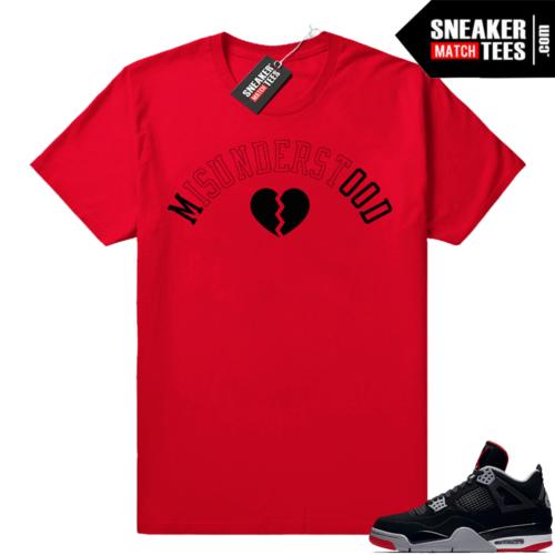 Shirts Matching Bred 4 Jordans