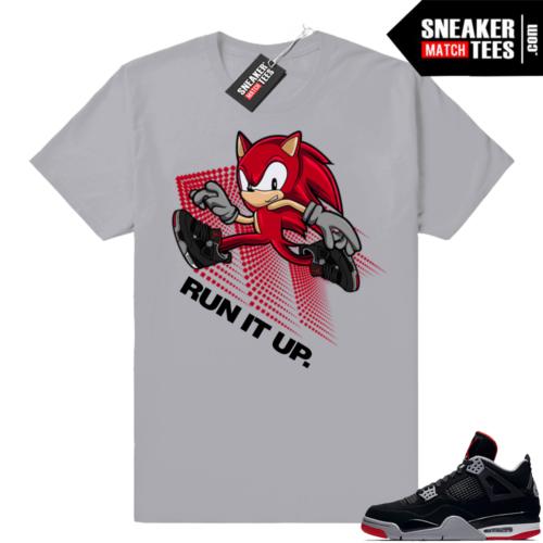 Shirts match Jordan 4 bred