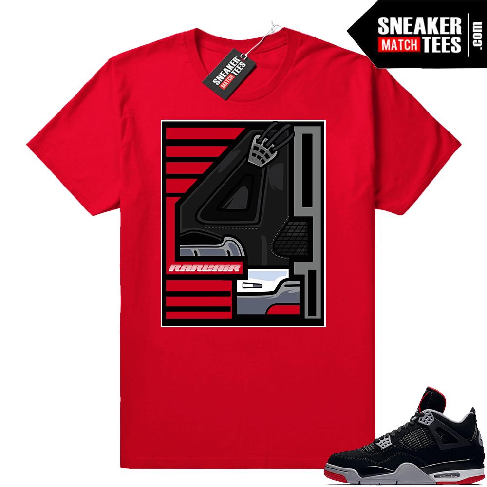 Shirts matching Jordan 4 bred