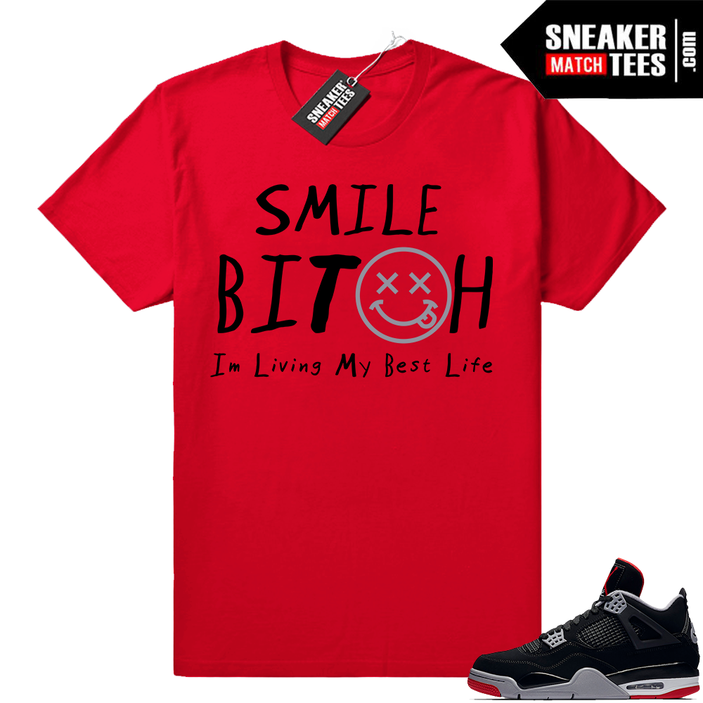 Sneaker Match Jordan 4 bred shirt