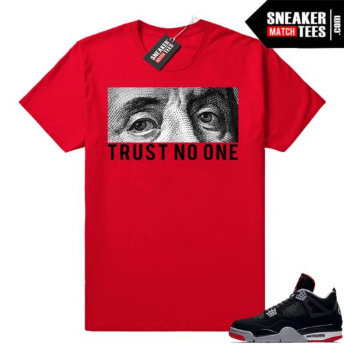 Sneaker Match Jordan 4 bred tees