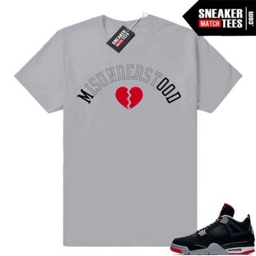 Sneaker Match Retro 4 Bred tees