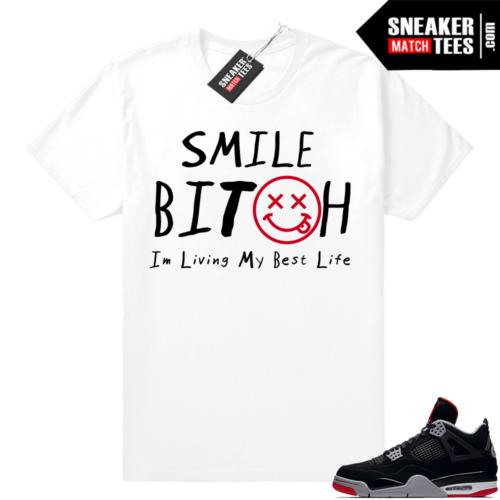 Sneaker Match Tee Shirt Bred 4s