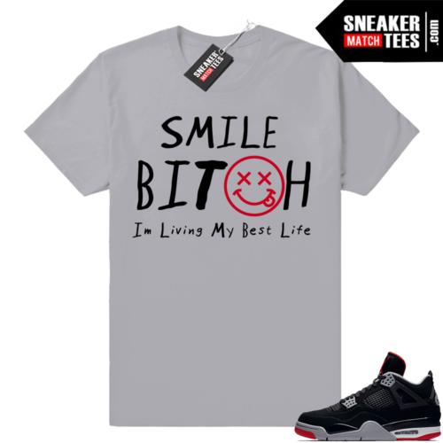 Sneaker Match shirt Bred 4s
