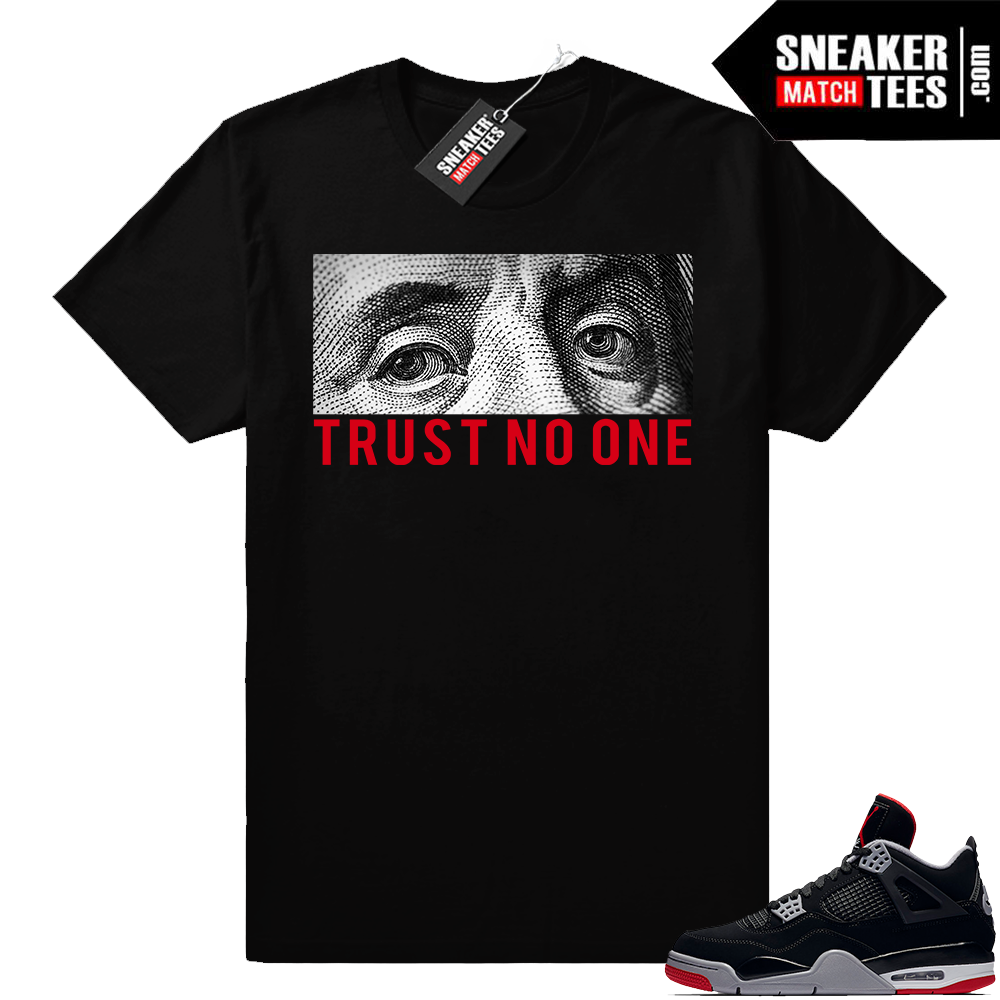 Sneaker match shirts Bred 4 Jordans
