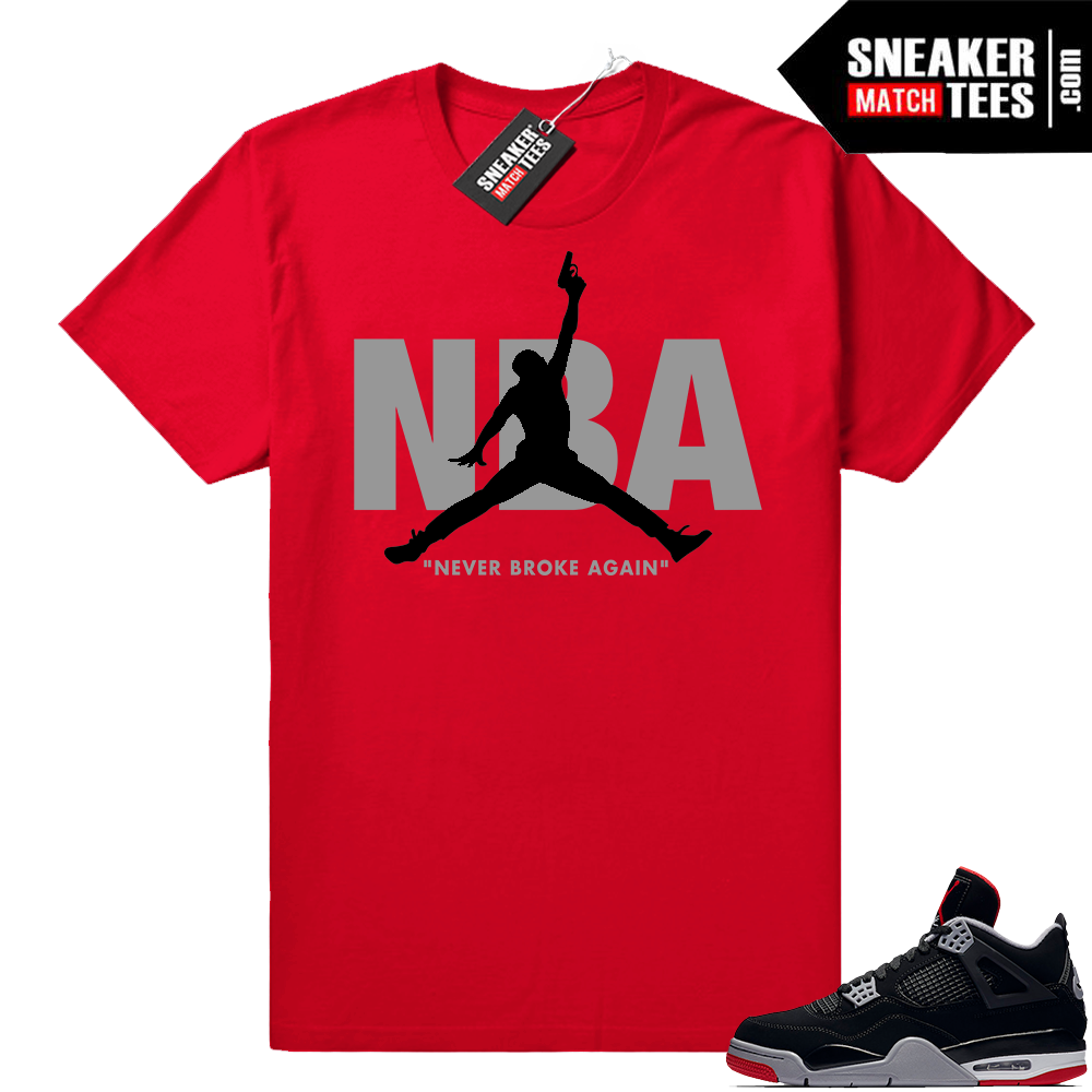 Sneaker shirt outfit bred 4s