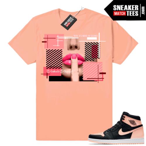 Sneaker tees Jordan 1 Crimson tint