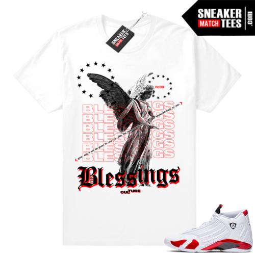Sneaker tees match Jordan 14 candy cane