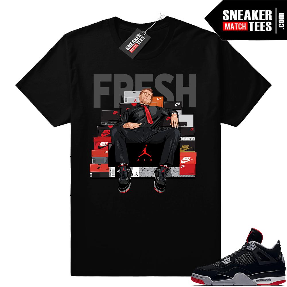 Air Jordan 4 Bred Matching sneaker tee