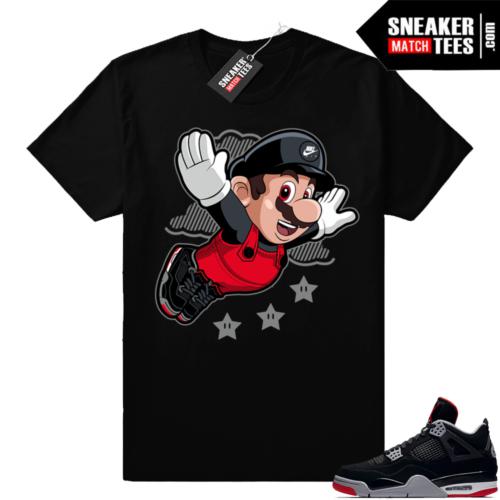 Air Jordan 4 Bred sneaker match tees